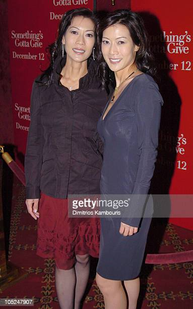Ada Tai and Arlene Tai during 'Something's Gotta Give' New York Premiere Inside Arrivals at Ziegfeld Theater in New York City New York United States