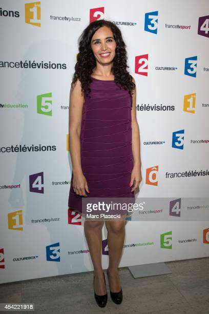 Aïda Touihri attends the 'Rentree de France Televisions' at Palais De Tokyo on August 26 2014 in Paris France