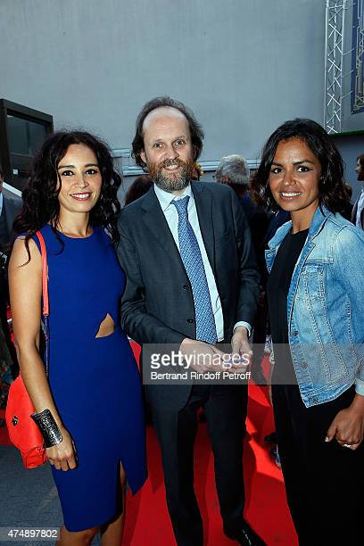 Ada Touihri JeanMarc Dumontet and Laurence Roustandjee attend 'Les Franglaises' last show after 4 months of representation at Bobino on May 27 2015...
