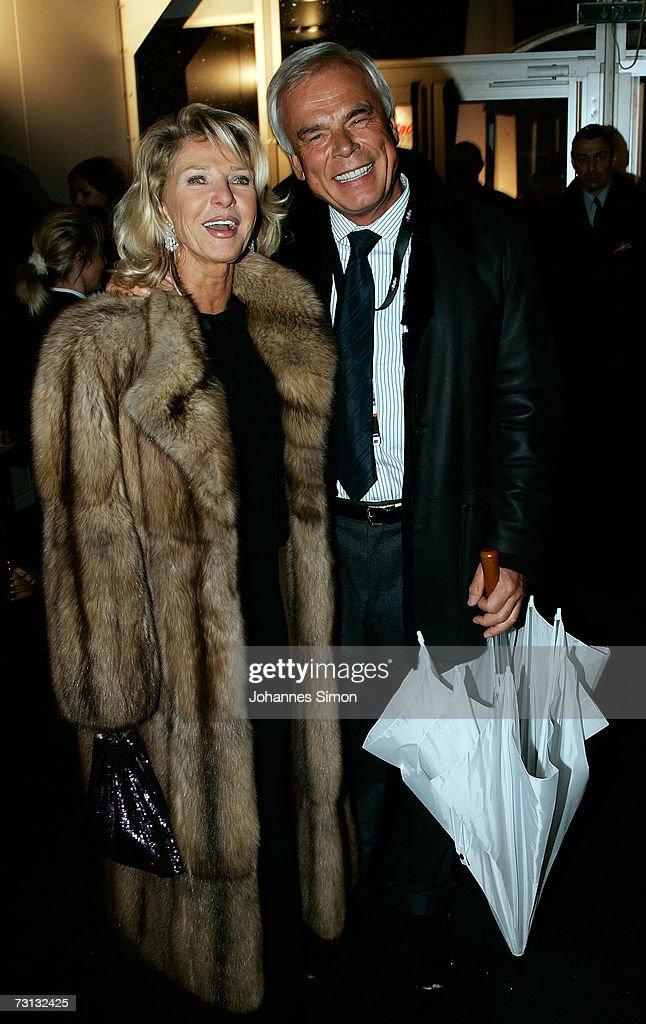 Adalbert Lhota and Marina Swarovski attend the Kitzrace Party January 27 in Kitzbuehel Austria