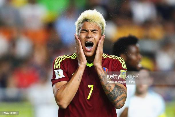Adalberto Penaranda of Venezuela reacts during the FIFA U20 World Cup Korea Republic 2017 Final between Venezuela and England at Suwon World Cup...
