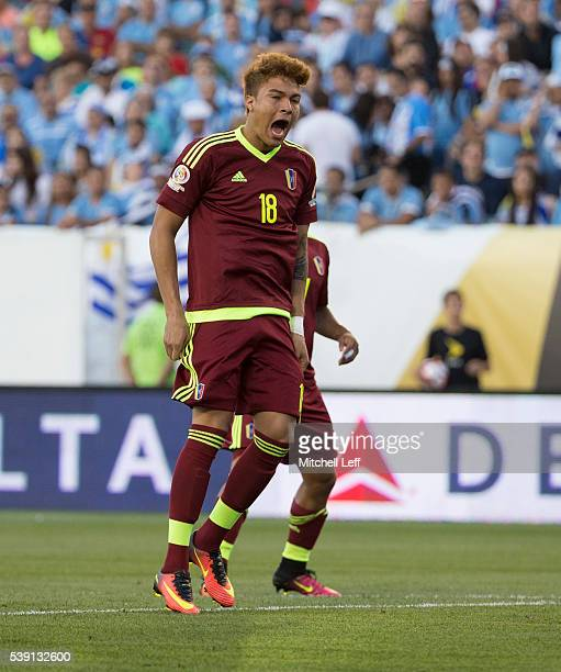 Adalberto Penaranda of Venezuela reacts in the game against Uruguay during the 2016 Copa America Centenario Group C match at Lincoln Financial Field...
