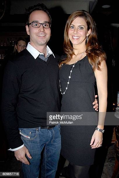 Adam Agensky and Melissa Foss attend COUP de COEUR Celebrates the Holidays with Shopping and Cocktails at FELICE WINE BAR at FELICE Wine Bar 1166...