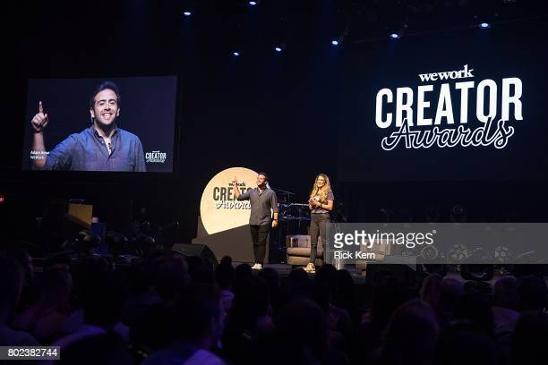Adam Amar and Alexis Jones speak during the WeWork Creator Awards Austin at ACL Live at The Moody Theater on June 27 2017 in Austin Texas