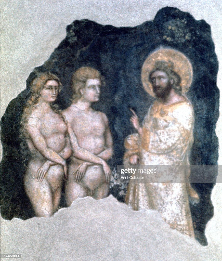 '<a gi-track='captionPersonalityLinkClicked' href=/galleries/search?phrase=Adam+-+Biblisk+person&family=editorial&specificpeople=77730 ng-click='$event.stopPropagation()'>Adam</a> and Eve', 1357. From a private collection.