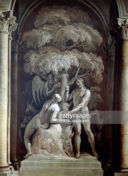 Adam and Eve by Francesco Fontebasso monochrome fresco sacristy Villa Manin Passariano fraction of Codroipo FriuliVenezia Giulia Italy 18th century