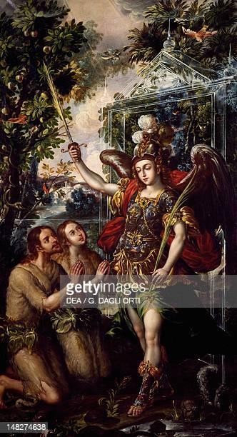 Adam and Eve expelled from Paradise by Juan Correa Tepotzotlan Museo Nacional Del Virreinato