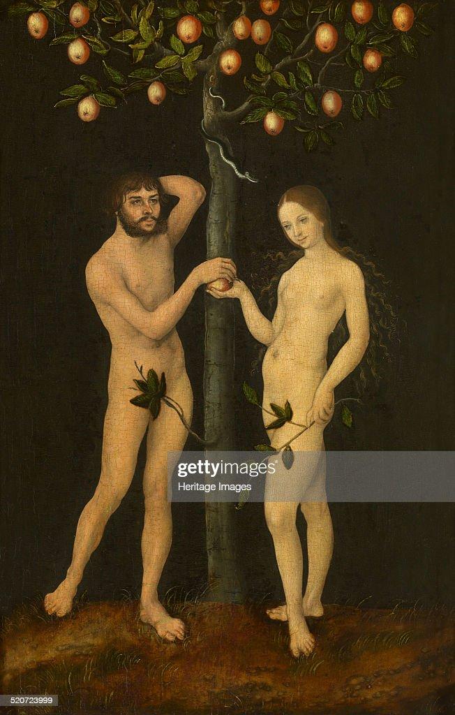 Adam and Eve. Found in the collection of Musées royaux des Beaux-Arts de Belgique, Brussels.