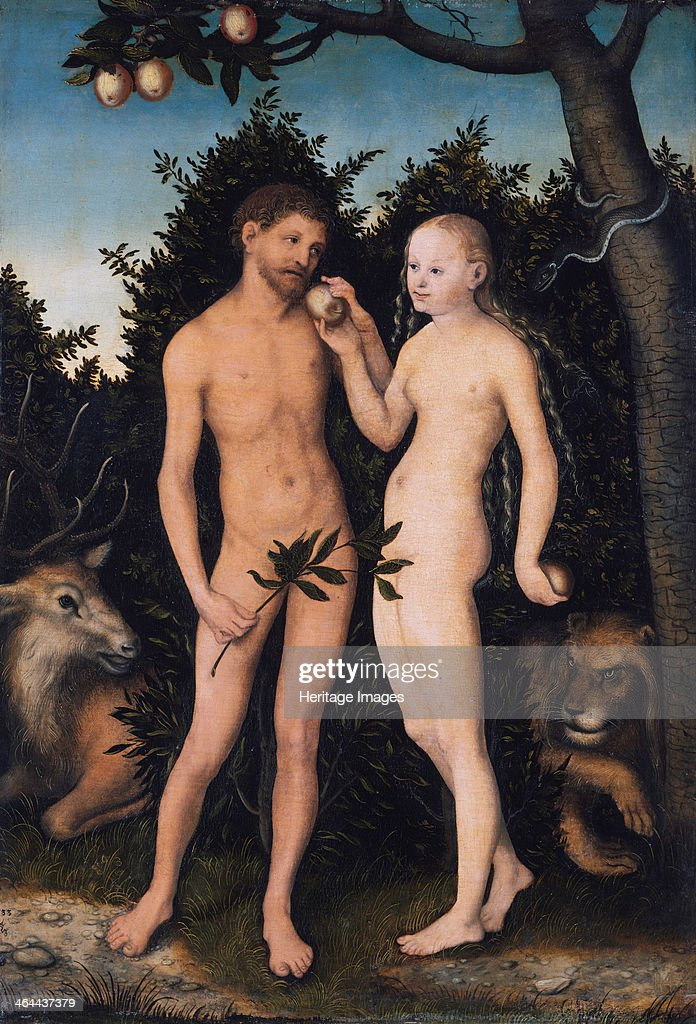 Adam and Eve in paradise (The Fall), 1531. Found in the collection of the Staatliche Museen, Berlin.