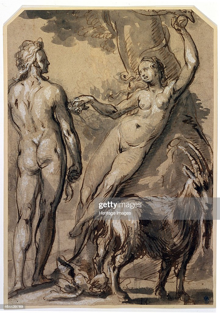 '<a gi-track='captionPersonalityLinkClicked' href=/galleries/search?phrase=Adam+-+Biblisk+person&family=editorial&specificpeople=77730 ng-click='$event.stopPropagation()'>Adam</a> and Eve. The Fall', late 1590s. Found in the collection of the State A Pushkin Museum of Fine Arts, Moscow.