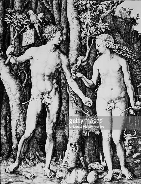 Adam and Eve 'The Fall of Man' Engraving by Albrecht Durer 1504