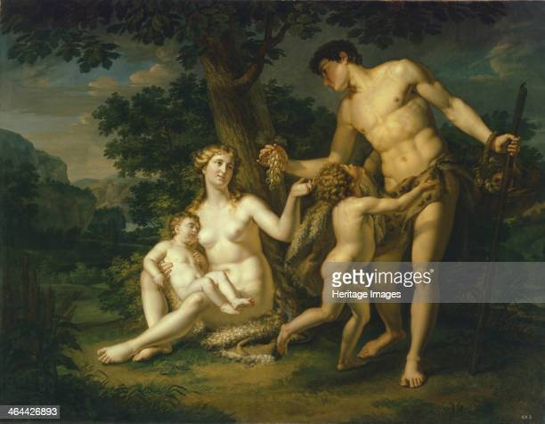 Adam and Eve with Children Under A Tree 1803 Found in the collection of the State Russian Museum St Petersburg