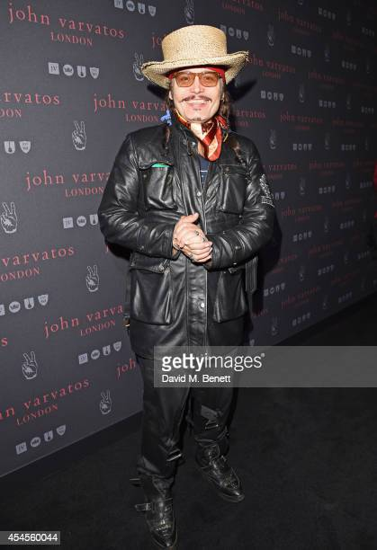 Adam Ant attends as John Varvatos launch their first European store in London on September 3 2014 in London England
