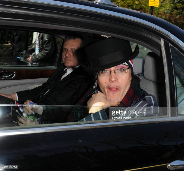 Adam Ant attends The Funeral of Malcolm Mclaren on April 22 2010 in London England