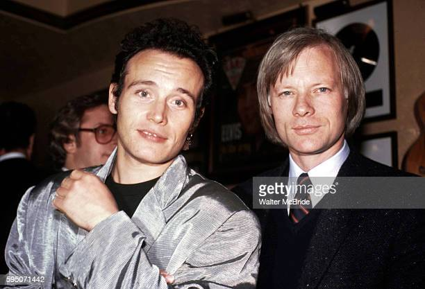 Adam Ant Miles Copeland at the Hard Rock Cafe in New York City on 11/1/1985