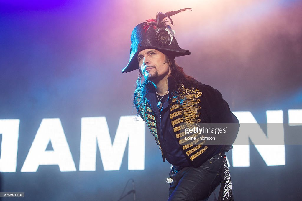 Adam Ant performs on day three of Rewind Scotland at Scone Palace on July 24 2016 in Perth Scotland