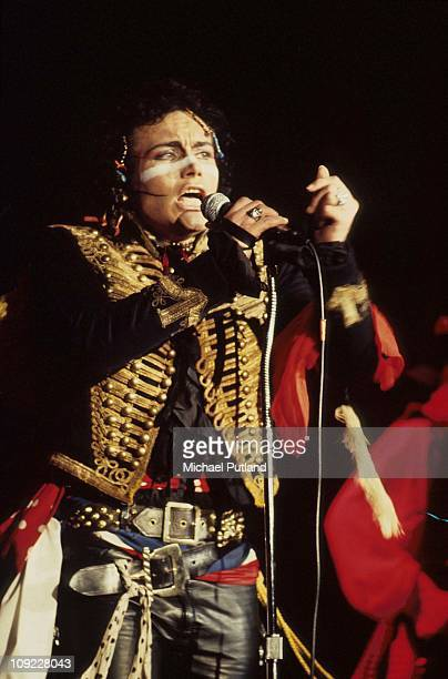 Adam Ant performs on stage with Adam And The Ants London 1981