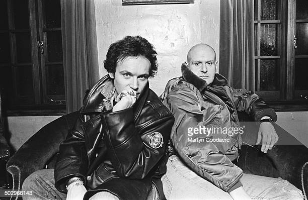 Adam Ant with guitarist and writing partner Marco Pirroni London United Kingdom 1992