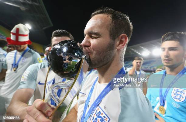 Adam Armstrong of England celebrates with the trophy after the FIFA U20 World Cup Korea Republic 2017 Final match between Venezuela and England at...