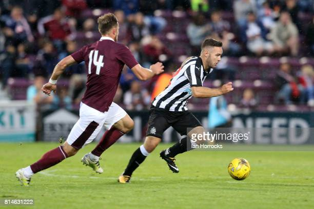Adam Armstrong of Newcastle during a preseason friendly match between Heart of Midlothian and Newcastle United on July 14 2017 in Edinburgh Scotland