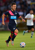 Adam Armstrong of Newcastle in action during the pre season friendly between Gateshead and Newcastle United at Gateshead International Stadium on...
