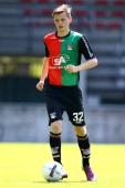 Adam Arnarson during the team presentation of NEC on July 7 2013 at the Goffert stadium in Nijmegen The Netherlands