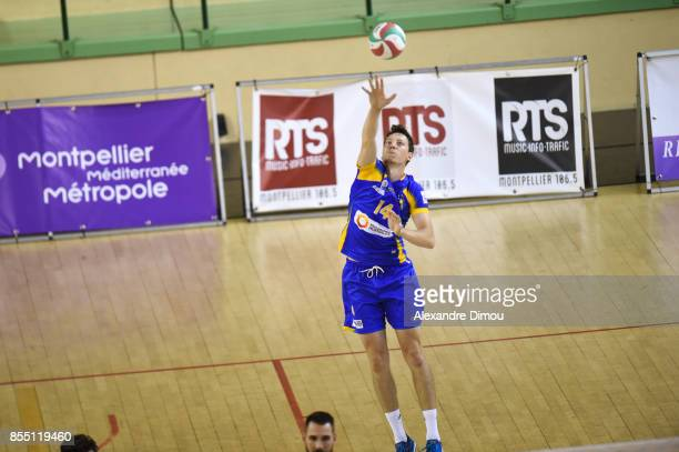 Adam Bartos of Nice during the Volleyball friendly match on September 22 2017 in Montpellier France