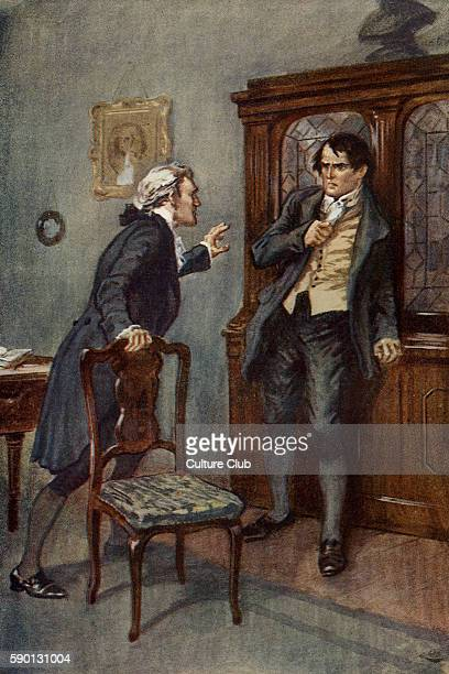 Adam Bede by George Eliot Illustrations by Gordon Browne Adam Bede and Mr Irwine Caption reads 'God grant she may be innocent' GE was a pen name for...