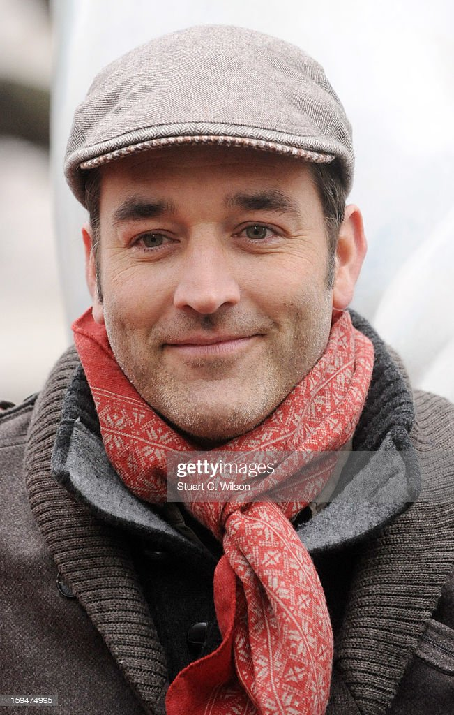 Adam Binder attends the unveiling of the statue of 'Boris The Polar Bear' to launch the Great British campaign to save the species at Sloane Square on January 14, 2013 in London, England.