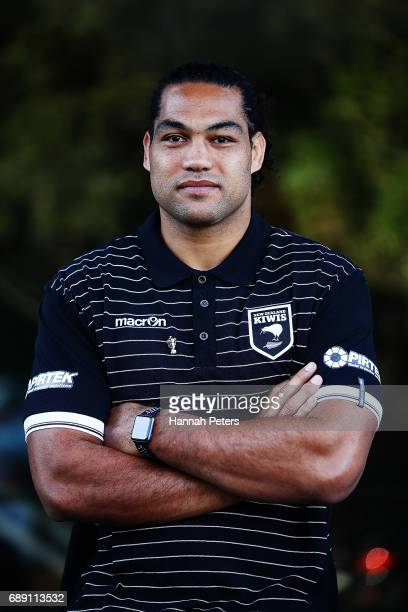 Adam Blair poses for a portrait after being announced as the new Kiwis captain following a New Zealand Rugby League media opportunity at Rugby League...