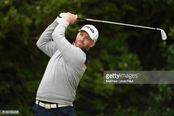 Adam Bland of Australia on the fitfth tee during the first round of the 146th Open Championship at Royal Birkdale on July 20 2017 in Southport England