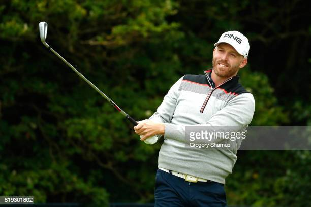 Adam Bland of Australia tees off on the 5th hole during the first round of the 146th Open Championship at Royal Birkdale on July 20 2017 in Southport...