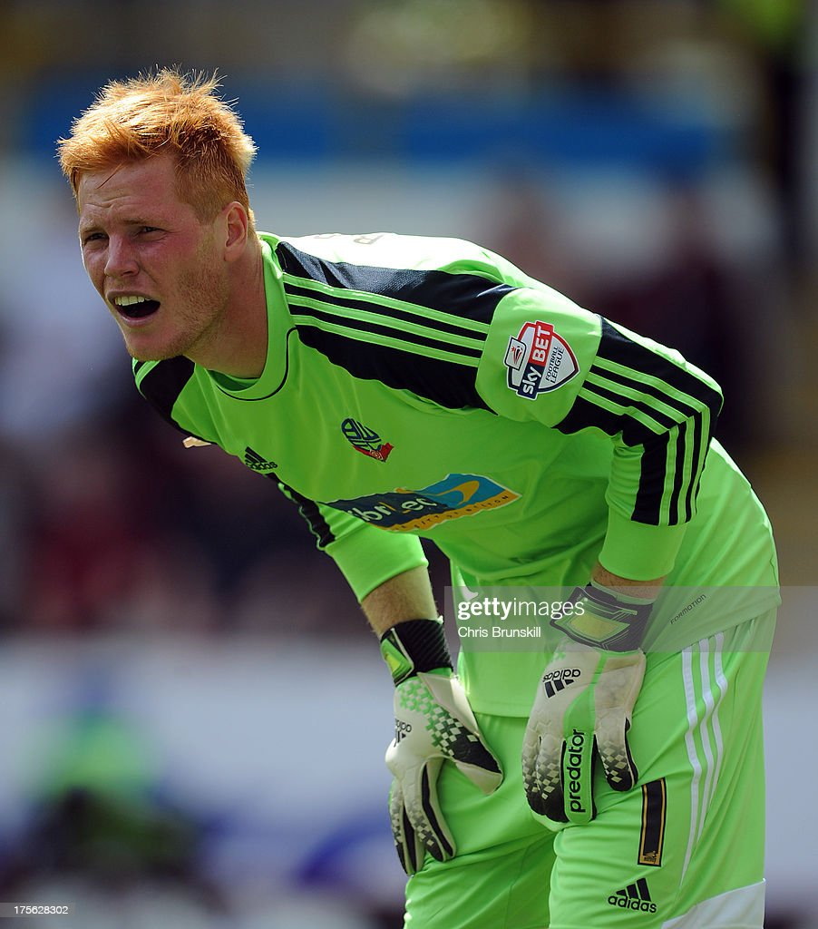 Adam Bogdan of Bolton Wanderers looks on during the Sky Bet Championship match between Burnley and Bolton Wanderers at Turf Moor on August 03, 2013 in Burnley, England.