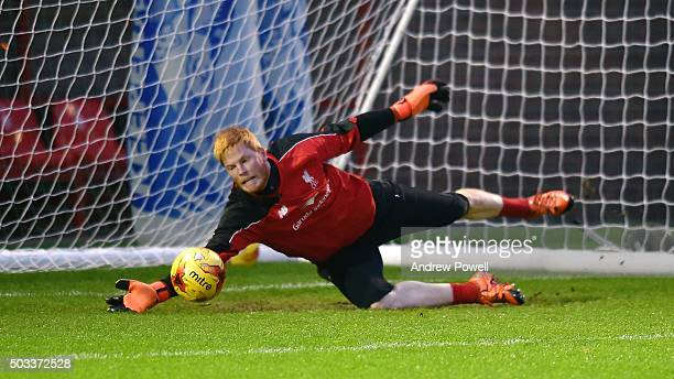 Adam Bogdan of Liverpool during a training session at Melwood Training Ground on January 4 2016 in Liverpool England