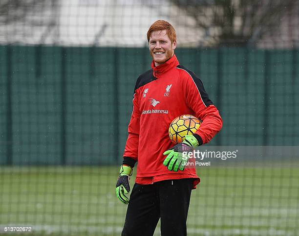 Adam Bogdan of Liverpool during a training session at Melwood Training Ground on March 4 2016 in Liverpool England