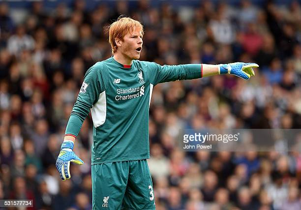 Adam Bogdan of Liverpool during the Barclays Premier match between West Bromwich Albion and Liverpool at The Hawthorns on May 15 2016 in West...