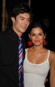 Adam Brody and Rachel Bilson during Premiere Party for New FOX Show 'The OC' in Santa Monica California United States