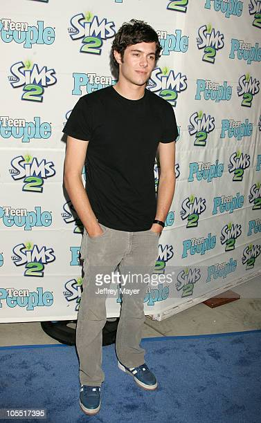 Adam Brody during 1st Annual Teen People 'Young Hollywood' Issue at Teen People Mansion in West Hollywood California United States