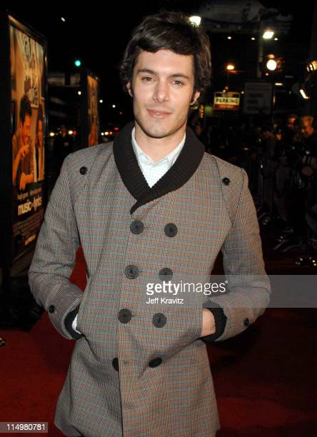Adam Brody during 'Music and Lyrics' Los Angeles Premiere Red Carpet at Grauman's Chinese Theater in Hollywood California United States