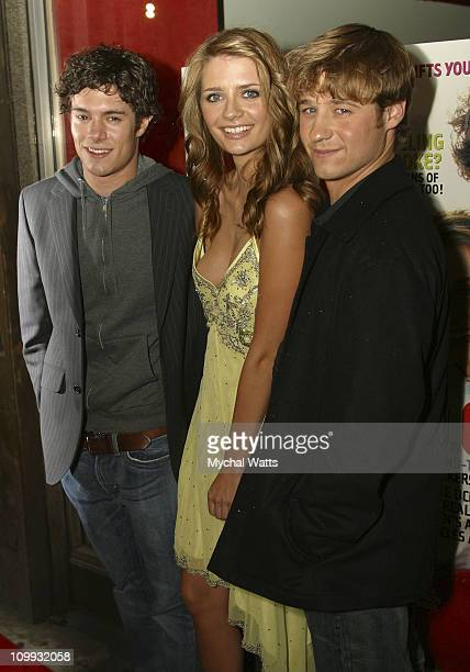 Adam Brody Mischa Barton and Ben McKenzie during The OC Unveils YM Magazine November Cover Obsessed Completely at LQ Lounge in New York City New York...