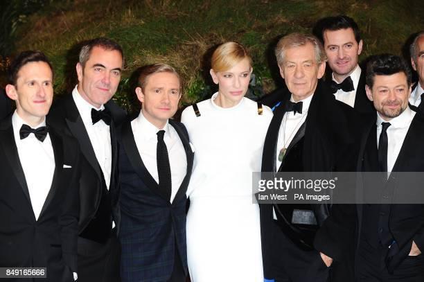 Adam Brown James Nesbitt Martin Freeman Cate Blanchett Sir Ian McKellen Richard Armitage and Andy Serkis arriving for the UK Premiere of The Hobbit...