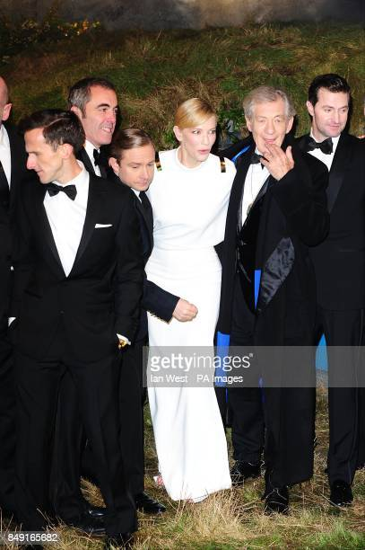 Adam Brown James Nesbitt Martin Freeman Cate Blanchett Sir Ian McKellen and Richard Armitage arriving for the UK Premiere of The Hobbit An Unexpected...
