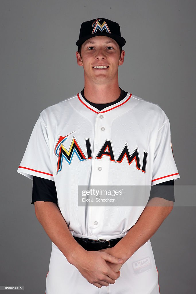 Adam Canley #83 of the Miami Marlins poses during Photo Day on Friday, February 22, 2013 at Roger Dean Stadium in Jupiter, Florida.