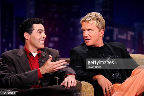 Adam Carolla and Anthony Michael Hall on the 'Jimmy Kimmel Live' show on ABC Photo by Jesse Grant/WireImagecom/ABC