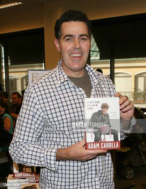 Adam Carolla signs copies of his new book 'In Fifty Years We'll All Be Chicks' at Barnes Noble bookstore at The Grove on November 13 2010 in Los...