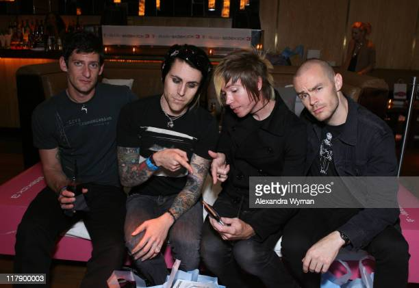 Adam Carson Jade Puget Davey Havok and Hunter Burgan of AFI