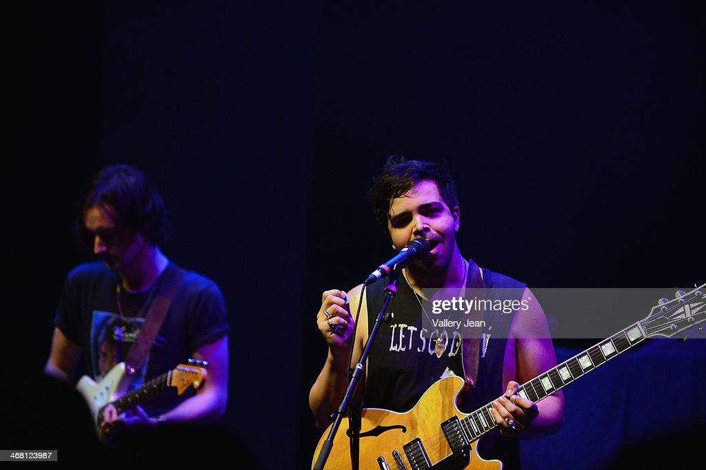 Adam Castilla of The Colourist performs at Fillmore Miami Beach on February 8, 2014 in Miami Beach, Florida.