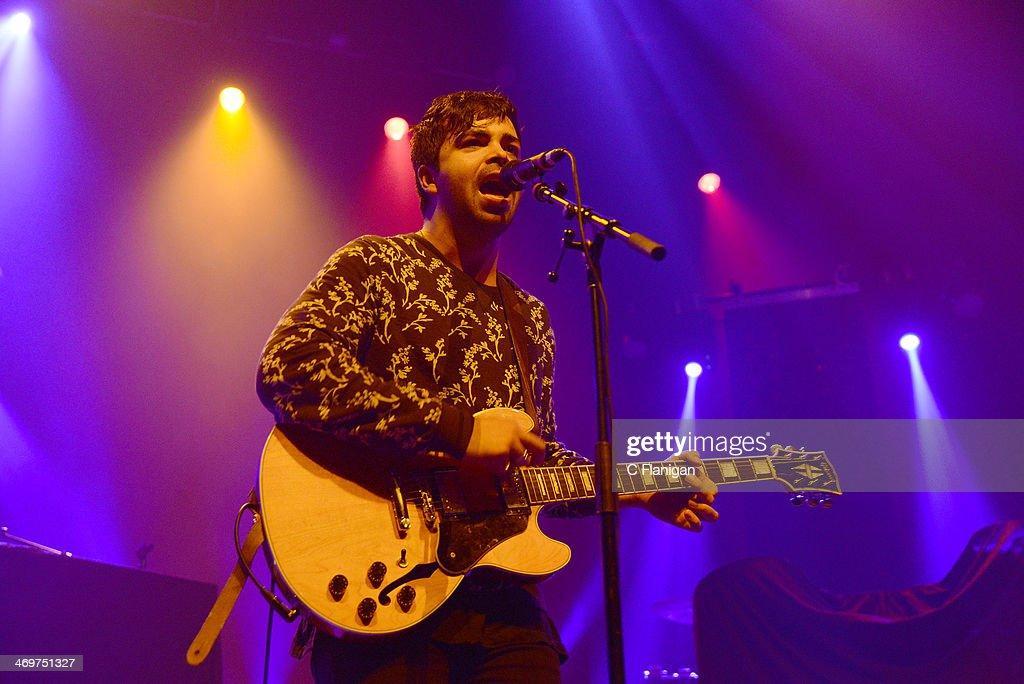 Adam Castilla of The Colourist performs at The Fox Theatre on February 15, 2014 in Oakland, California.
