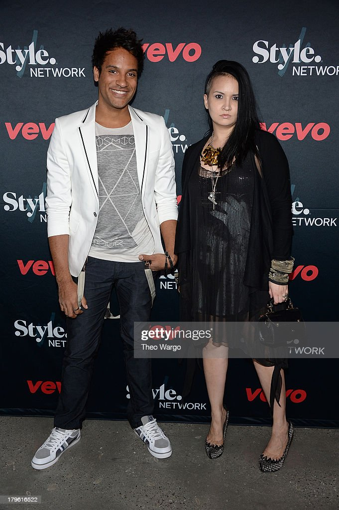 Adam Christoffel and Autumn Kietponglert attend the VEVO and Styled To Rock Celebration Hosted by Actress, Model and Styled to Rock Mentor Erin Wasson with Performances by Bridget Kelly & Cazzette on September 5, 2013 in New York City.