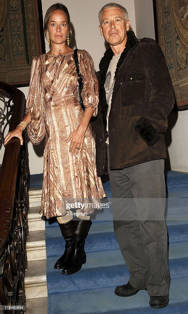 Adam Clayton and guest during Missoni Fragrance Launch at the Italian Embassy at Italian Embassy in London